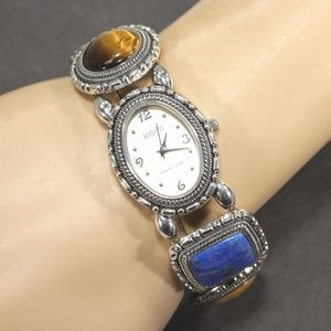 Ecclissi Sterling Silver Watch with Gemstones